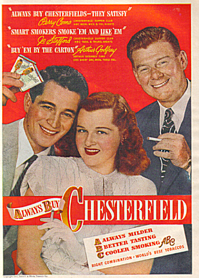 1947 Chesterfield Cigarettes PERRY COMO + AD (Image1)