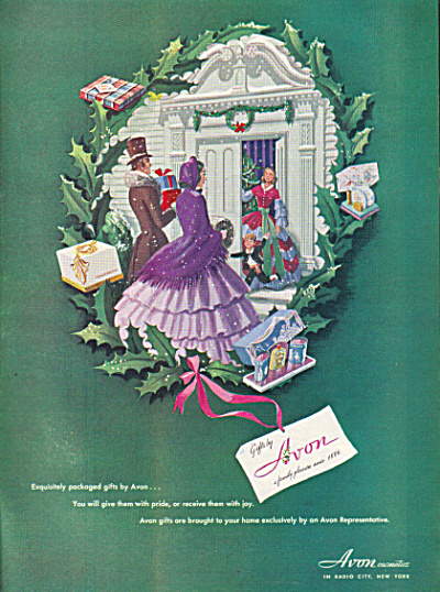 1947 AVON Victorian Christmas Gifts AD BEAUTY (Image1)
