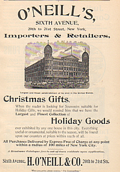 1893 O'Neills's Department Store New York AD (Image1)