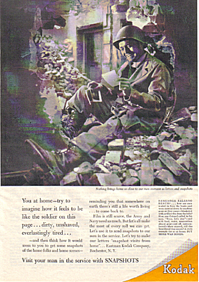 1944 SOLDIER US Army Reading Letter from Home (Image1)