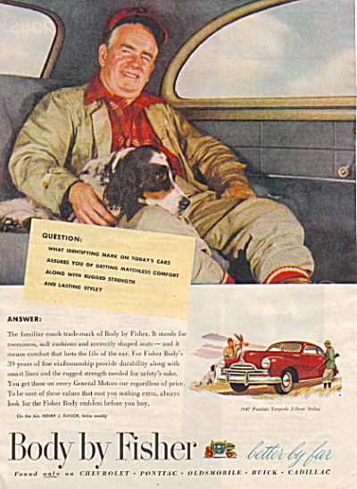 1947 FISHER BODY Pontiac Torpedo Man - Dog CA (Image1)