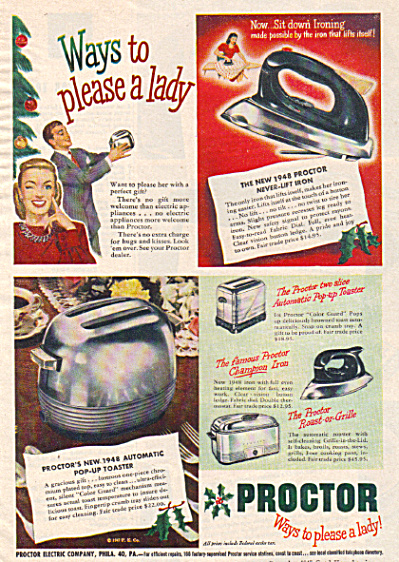 1947 Proctor Pop-Up Toaster Appliance AD (Image1)