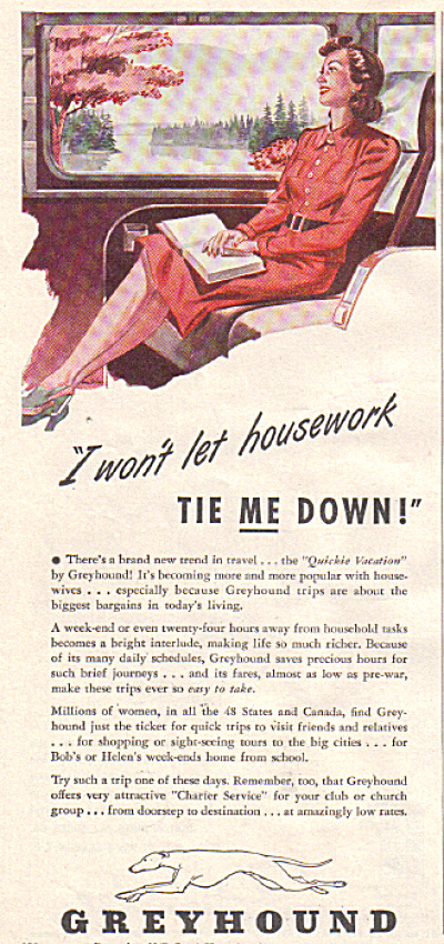 1947 GREYHOUND Quickie Vacation Housework Tie (Image1)