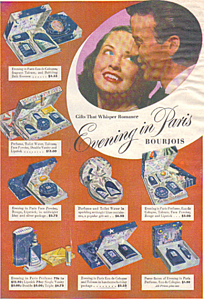 1947 Evening In Paris Bourjouis Collection Ad