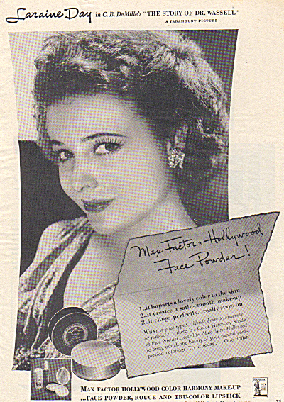 1944 Laraine Day Actress Max Factor Hollywood