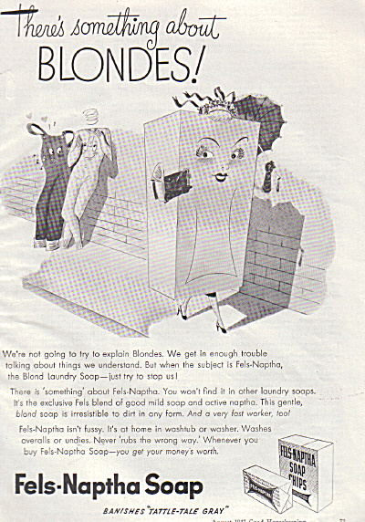 1947 THERE'S SOMETHING ABOUT BLONDES Fels AD (Image1)