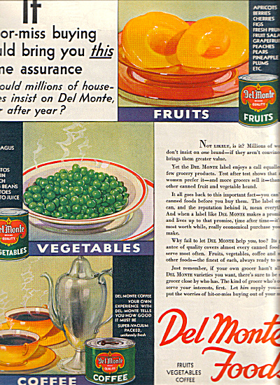1932 DEL MONTE Foods HIT MISS AD (Image1)