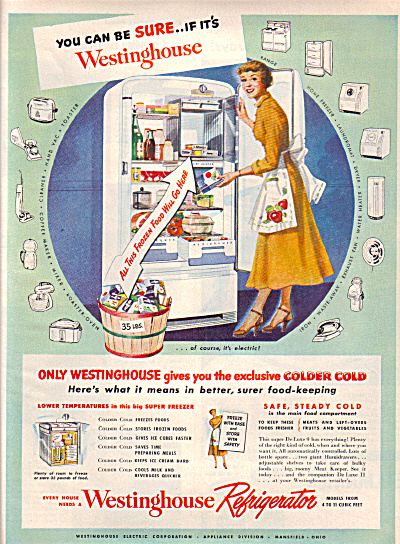 1949 Westinghouse Refrigerator BE SURE AD (Image1)