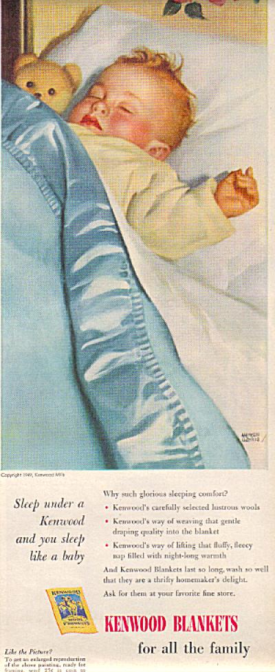 1949 Kenwood Blankets ANDREW LOWE BABY Sleepi (Image1)