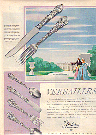 1949 GORHAM Sterling Silver VERSAILLES AD (Image1)
