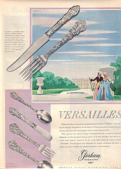 1949 GORHAM Sterling Silver VERSAILLES AD (Image1)