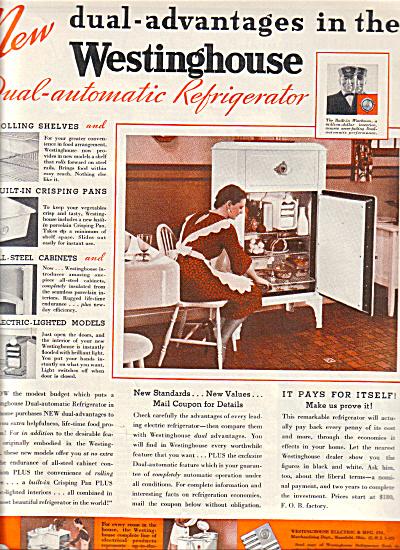 1932 Westinghouse ICEBOX Refriderator VTG AD (Image1)
