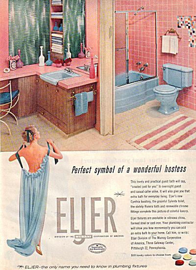 1956 Eljer Plumbing Fixtures Nude Lady Ad (Image1)
