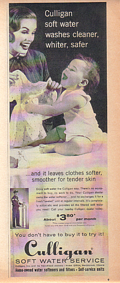 1950�s Culligan Soft Water Mother - Baby AD (Image1)