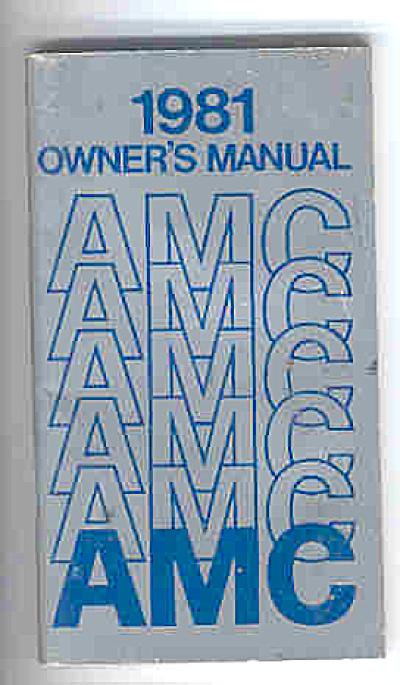 1981 AMC Car OWNERS MANUAL ORIGINAL (Image1)