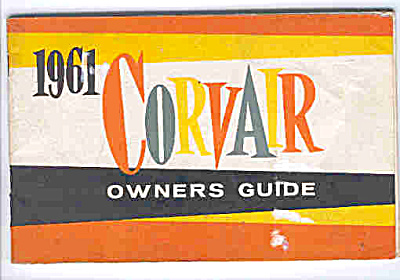 ORIGINAL 1961 CORVAIR Owners Manual Guide (Image1)