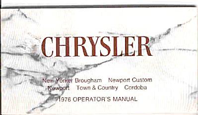 1976 Chrysler Operators Manual ORIGINAL (Image1)