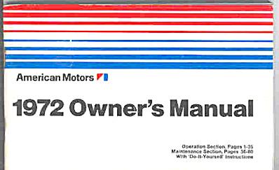 1972 AMC Javelin plus OWNERS MANUAL (Image1)