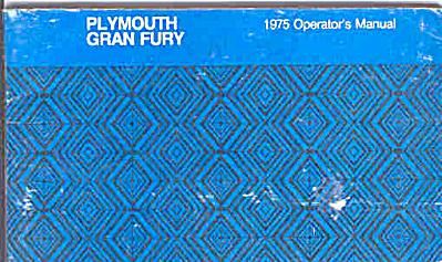 Original 1975 Plymouth Gran Fury Owners Man (Image1)