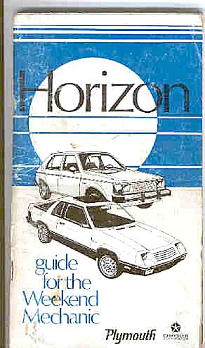 ORIGINAL Plymouth Horizon Owners Manual (Image1)