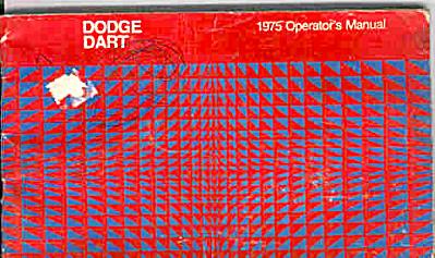 1975 Dodge DART Owners Manual ORIGINAL (Image1)