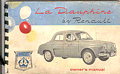 1960 Le Dauphine Renault Owners Manual (Image1)