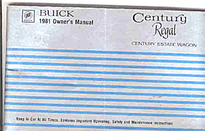 1981 BUICK Centry Regal OWNERS MANUAL (Image1)