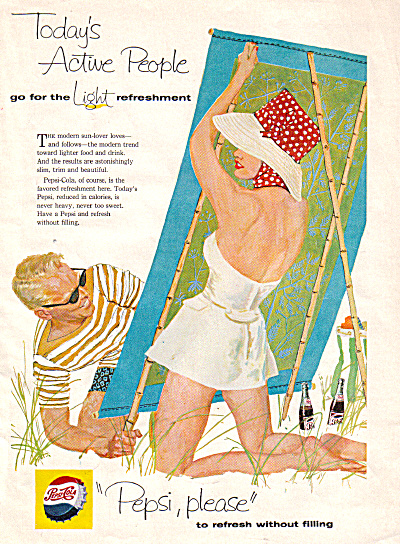 1958 PEPSI People on Beach Please AD (Image1)