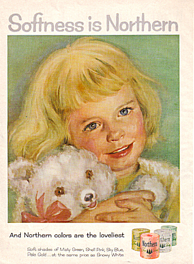 1958 Northern Blonde Girl - Teddy Bear AD (Image1)