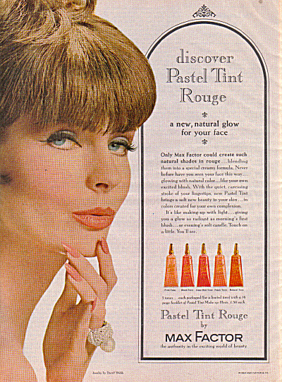 1964 Max Factor PASTEL TINT ROUGE Model AD (Image1)