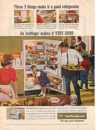 1964 WHIRLPOOL Party Time  Refrigerator AD (Image1)