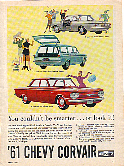 1961 Chevy CORVAIR Monza - 500 Chevrolet AD (Image1)