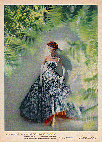 1958 MODESS . because Sheerest Woman in Gown (Image1)