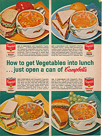 1962 Campbell's Soup Dinnerware AD (Image1)