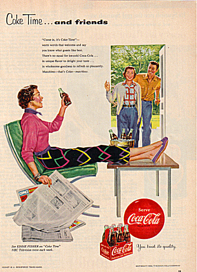1954 Coke Coca Cola Time And Friends Ad