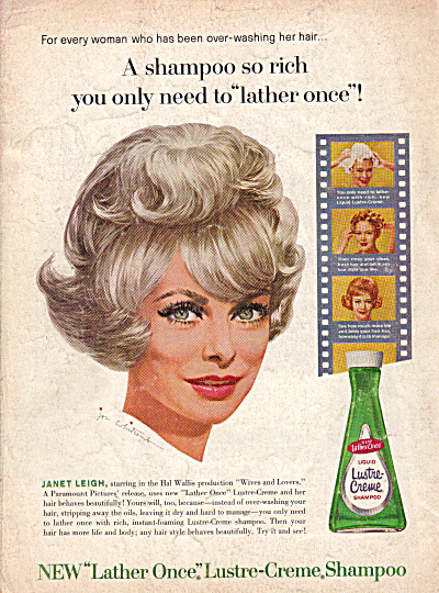 1963 JANET LEIGH Lustre Creme Jon Whitcomb AD (Image1)