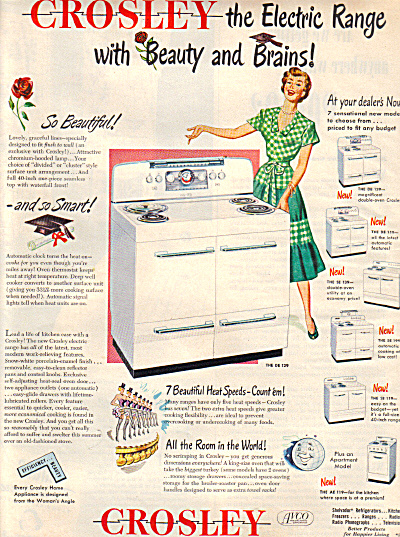 1949 CROSLEY Electric Range stove BEAUTY AD (Image1)