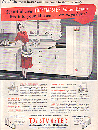 1949 Toastmaster Weird Water Heater Ad