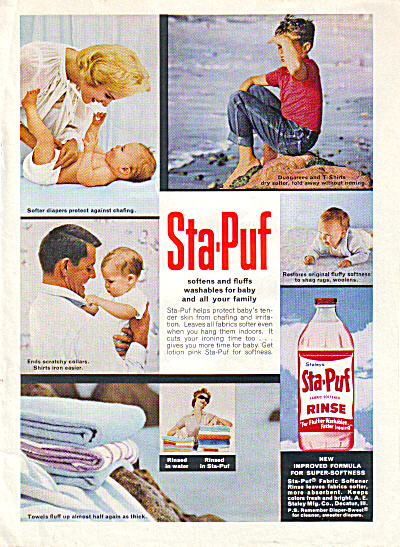 1962 Sta Puf PINK RINSE Cutest AD (Image1)