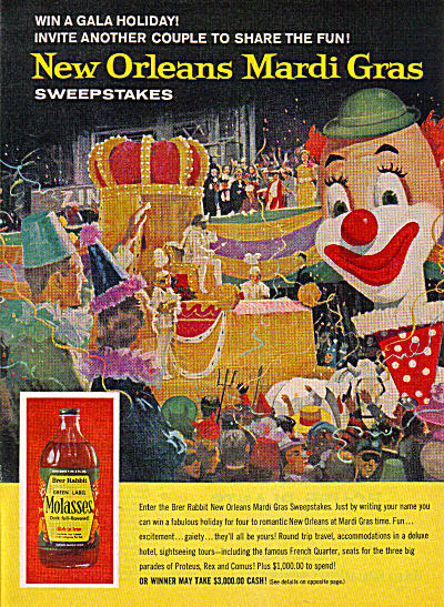 1962 BRER Rabbit Mardi Gras REX Float AD (Image1)