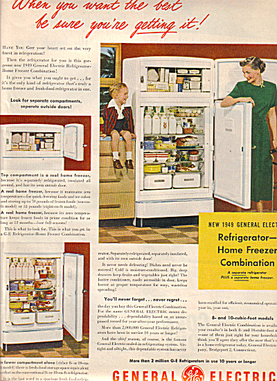 1949 General Electric Refrigerator Freezer AD (Image1)