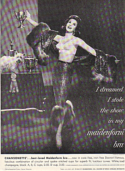 1962 Maidenform I DREAMED STOLE DOG SHOW AD (Image1)