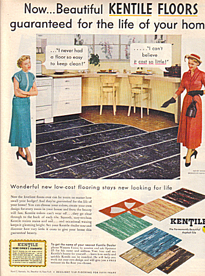 1949 Kentile ASBESTOS  Colorful Floor Tile AD (Image1)
