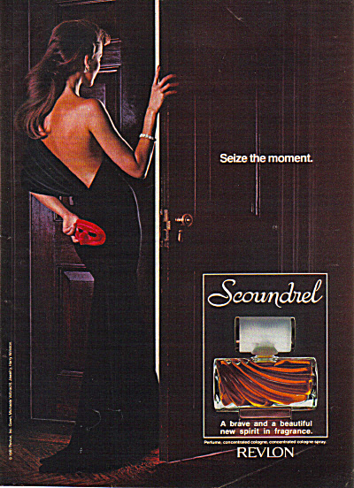 1982 Revlon Scoundrel Seize The Moment Ad