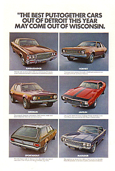 1972 AMC Javelin Hornet Gremlin Wisconsin AD (Image1)