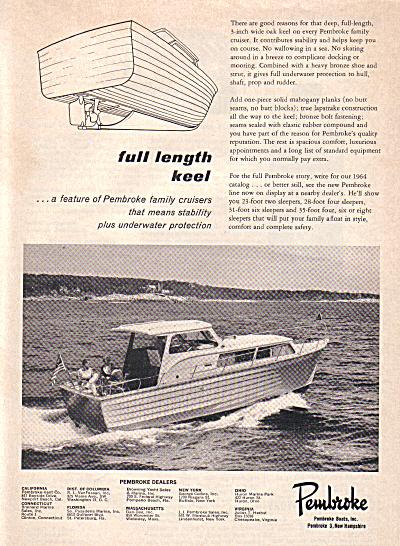 1963 Pembroke Cabin Cruiser Boat AD (Image1)