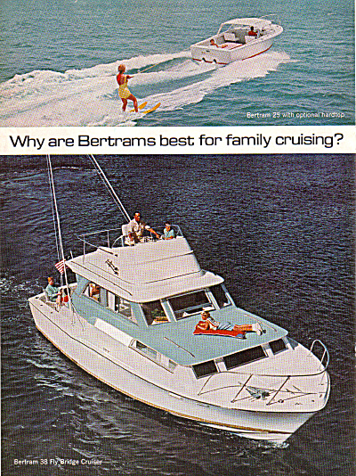 1963 BERTRAM Bridge Cruiser Cabin BOAT AD 2pg (Image1)