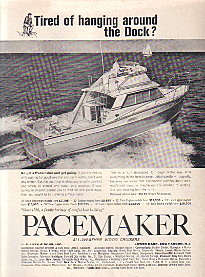 1963 PACEMAKER Cabin Cruiser Boat AD (Image1)
