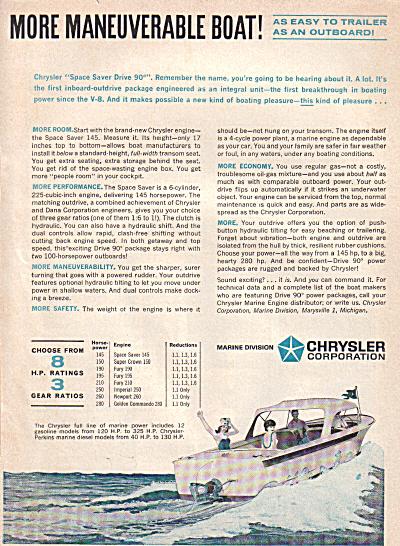 1963 Chrysler I/O Boat  & Engine AD 2pg (Image1)