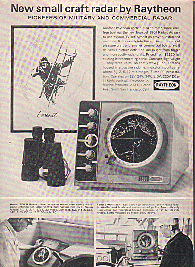1963 Raytheon 1900 Radar + for Boats AD (Image1)